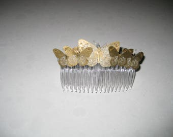 Golden Pearl Wedding Broom Collection: Hair Accessory