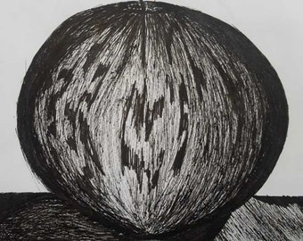 Original Apple Drawing done with Micron