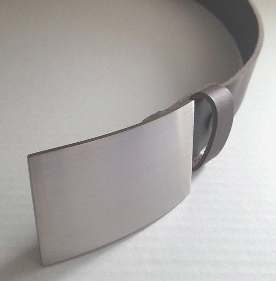 "Square Boy Belt & Buckle ~ Jean Buckle ~ Hand Forged Anvil Textured ~ Boyfriend Gift ~ Signed Original Belt Buckle fits 1-1/2"" Belt for Jean"