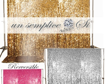 Photobooth Backdrop ,Sequin Backdrop Reversible  LARGEST COLOR SELECTION