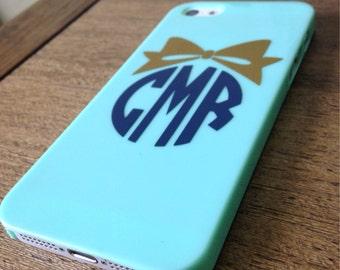 Custom Monogram iPhone case
