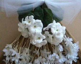 All White Wedding Broom, Jumping Broom