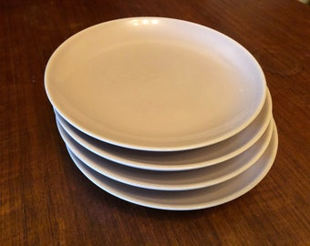 Set of Four (4) Vintage 1950s Russel Wright Iroquois Casual Pink Sherbet Salad Plates