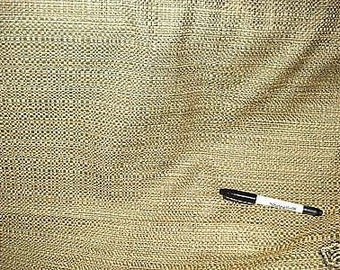 green gold copper BASKET WEAVE TEXTURE solid upholstery fabric 25-57-09-038