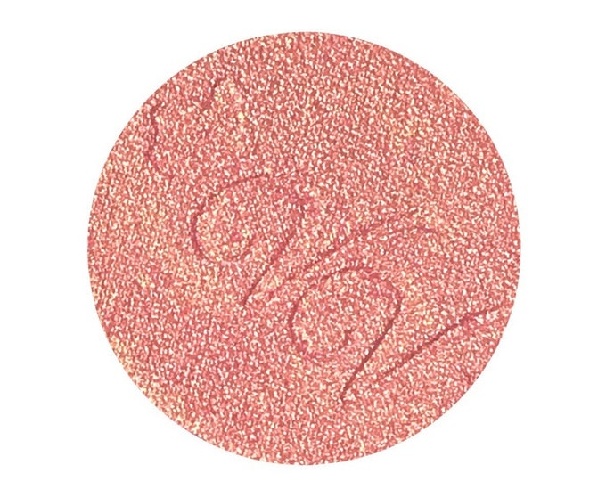 STRAWBERRY BUBBLEGUM - Pressed Highlighter / Blush Topper Pigment- Duochrome Pink Gold
