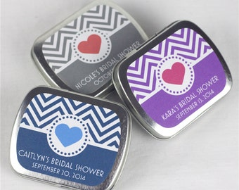 15 Personalized Baby Shower Favor Tins - MINTS INCLUDED - Shower Favors - Complete Favors - 2.5 x 2