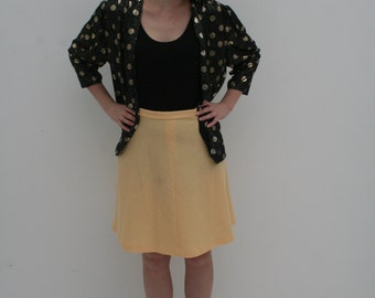 Yellow High Waisted Skirt