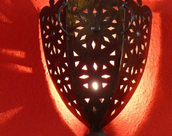 Oriental lamp wall lamp from iron