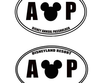 Annual Passholder Decal. Choice of Park