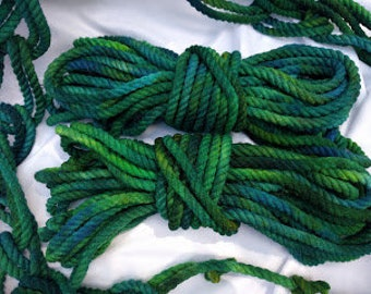 Mermaid Green Dyed Cotton Rope
