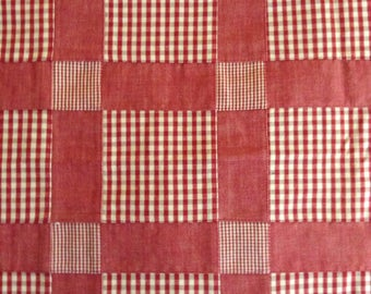 SALE - One, One Yard Piece of Fabric  - Gingham Patchwork Home Dec Fabric