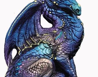 Regal Dragon Cross Stitch Pattern