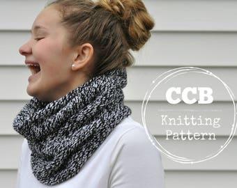 Opal Cowl Scarf Knitting PATTERN // 2 Looks // 2 Styles
