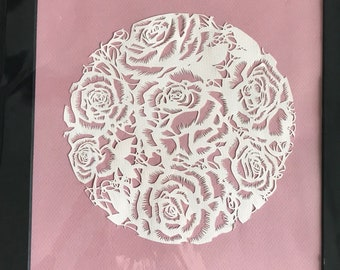 Roses on Pink