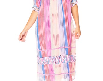 Handwoven Lightweight Cotton Ikat Dress