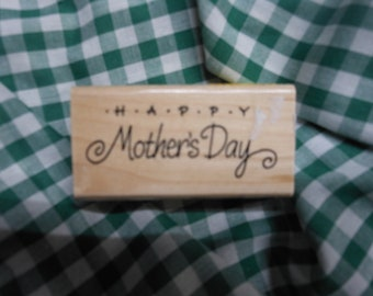 Happy Mother's Day  -  Mounted Rubber Stamp