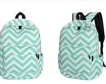 Personalized Chevron Backpack-Mint Backpack
