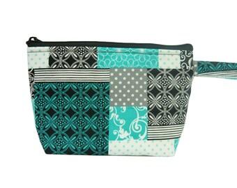 Quilt Print Makeup Bag