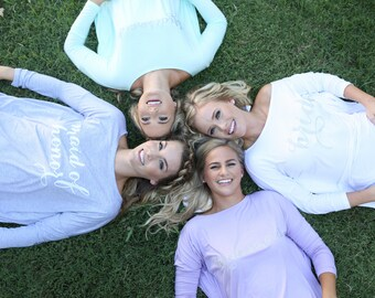Bridal Party Moo Moos | Great for getting ready in | The perfect gift for your besties | Bridal party Moo-Moo Tunic Dress!