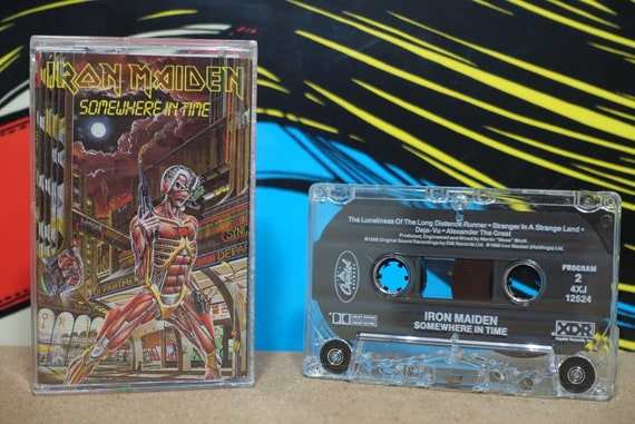 Somewhere In Time by Iron Maiden Vintage Cassette Tape