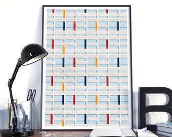 Affiche poster graphic design architecture illustration Le Corbusier S04 Complet