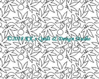 Up In Smoke - Longarm Digital Quilting Pattern  Edge to Edge Instant Download