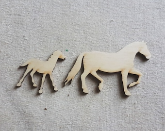 Small Horses Cutouts, Wooden Horses, Horse Decor, Horse Sign, Wooden Animal, Horse Decorations, Derby Decor, Derby Art, Derby Party