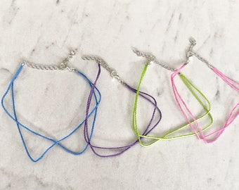Rope Anklet, String Anklet, Cord Anklet, Boy Anklet, Cord Ankle Bracelet, Cord Bracelet, Wax Cord Anklet, String Bracelet,Wax String Anklet