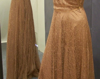 Rare 1940's Lace Gown with slip