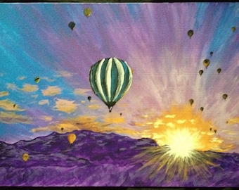 Sunrise During the Balloon Fiesta: A homemade painting