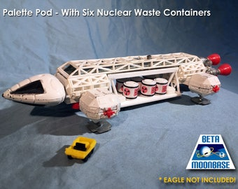 Dinky Space 1999 Eagle Freighter Pod and Nuclear Waste Canisters
