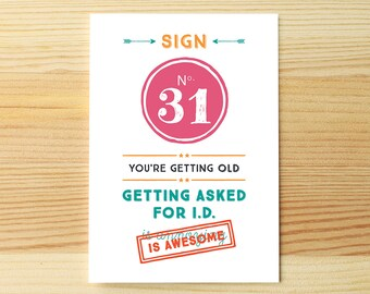 You're old, getting ID
