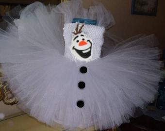 Birthday Olaf Snowman Halloween Costume Girl Tutu Dress Baby Toddler Infant