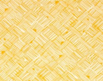 Star Landing fabric for Free Spirit, Cross Hatch in Saffron -- BY THE YARD