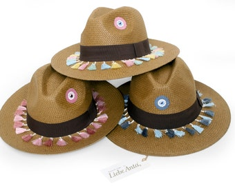 Fedora Handpainted Straw Hat