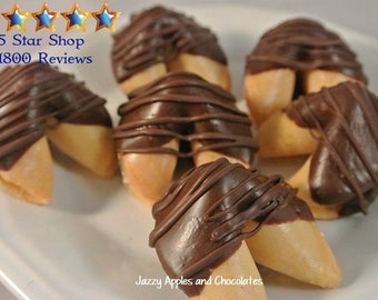 Dark Chocolate Dipped Fortune Cookie