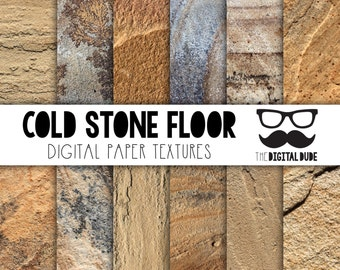 Premium Digital Paper Set, Rough Stone Tiles, Scrapbook Paper, Stone Digital Paper, Flat Stone, Textured Stone, Instant Download