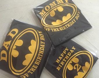 Set of 7 Family birthday batman shirts (7)