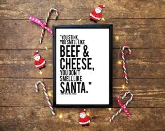 Buddy the Elf Christmas Quote Wall Art Print