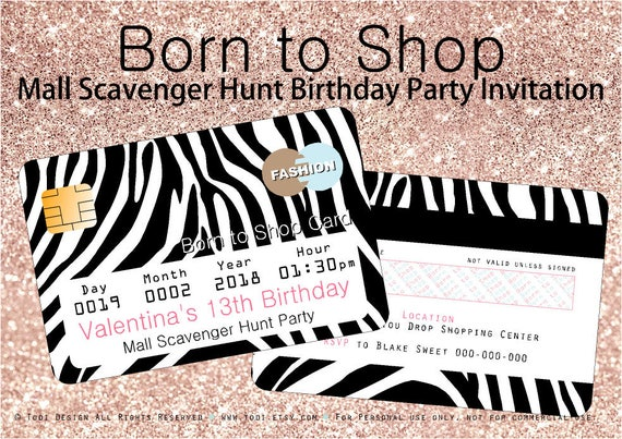 Born to shop invitation and shopping bag envelope printable born to shop invitation and shopping bag envelope printable mall scavenger hunt party filmwisefo Images