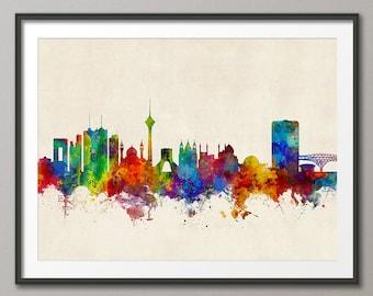 Tehran Skyline, Tehran Iran Cityscape Art Print Poster (2860)