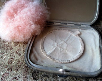 Antique Vanity Powder Box.