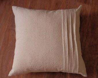 Pleated Vintage Feedsack Pillow