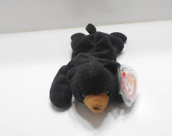 Vintage 1993 Ty BLACKIE, Little Bear, DOB 07/15/94 (19-G) Beanie Babies Collection