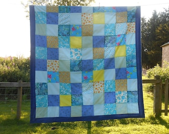 Throw  #handmade patchwork  #double bed throw  # patchwork bedding  #patchwork throws  #SeamsUnreal  #Netlees