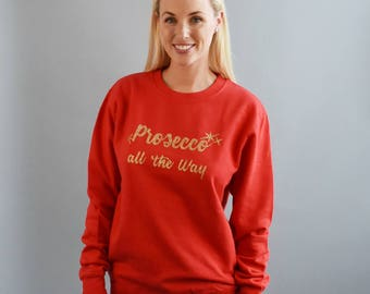 No Pain No Prosecco Unisex Sweatshirt - Yoga Sweatshirt - Sweater - Jumper - Gym Top - Workout Top - Gym Sweatshirt - Postworkout Sweatshirt