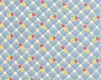 Chloe's Closet for moda fabrics, 30's Playtime 2015, Sky 33043 15