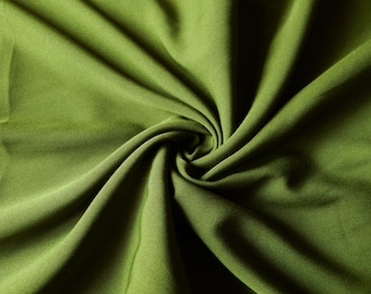 1 yard of Crepe Fabric, Indian Polyester Fabric, Skirt Fabric, Olive Green Crepe Fabric, Crepe Fabric