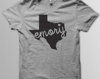 Custom TEXAS Hometown Tri blend Tshirt