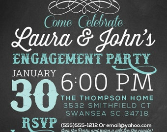 Vintage Engagement Party Invite